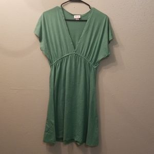 Green fit and flair dress